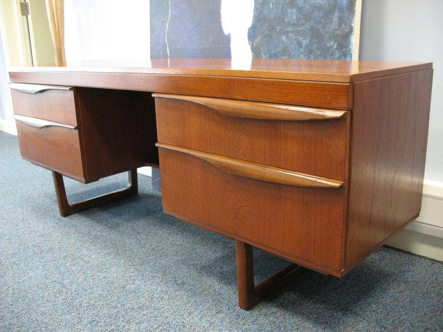 **SOLD**Danish Teak Desk A