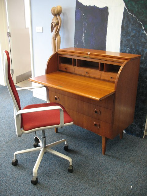 **SOLD**Danish round top desk