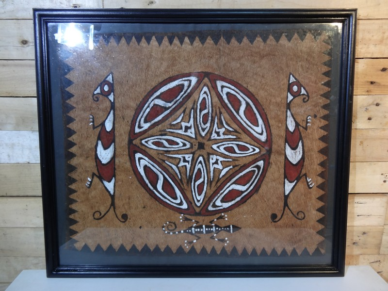 Original aboriginal painting on bark