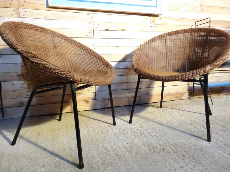 1960s Extremely sought after LLoyds Loom Rotan set of chairs (Price on request)