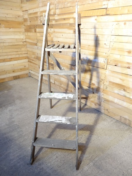 SOLD - 1900's French vintage fruit picking / painting ladder (C) (Price on request)