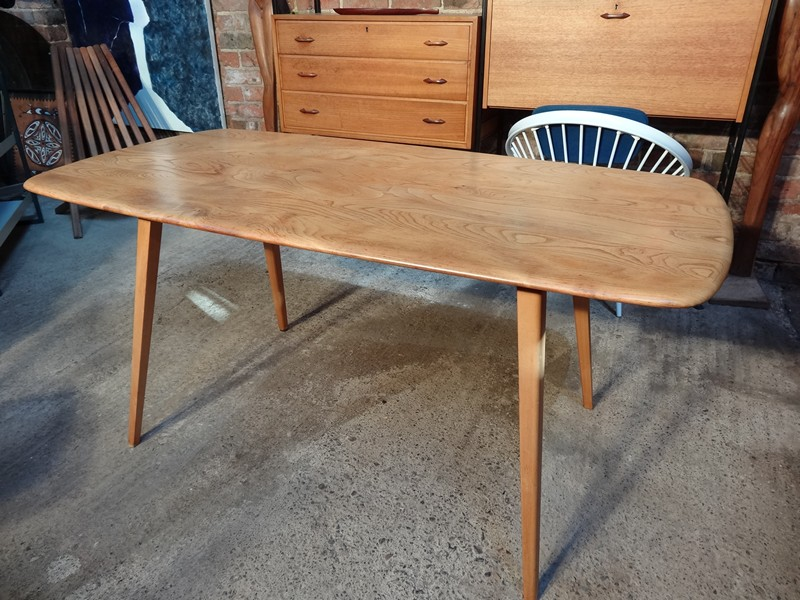 SOLD Ercol Windsor Refectory Light Elm Dining Table