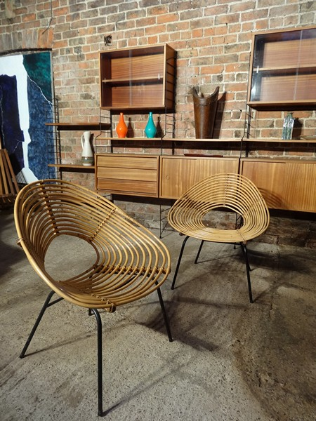 **SOLD**1960s Extremely sought after Roho Rotan set of chairs