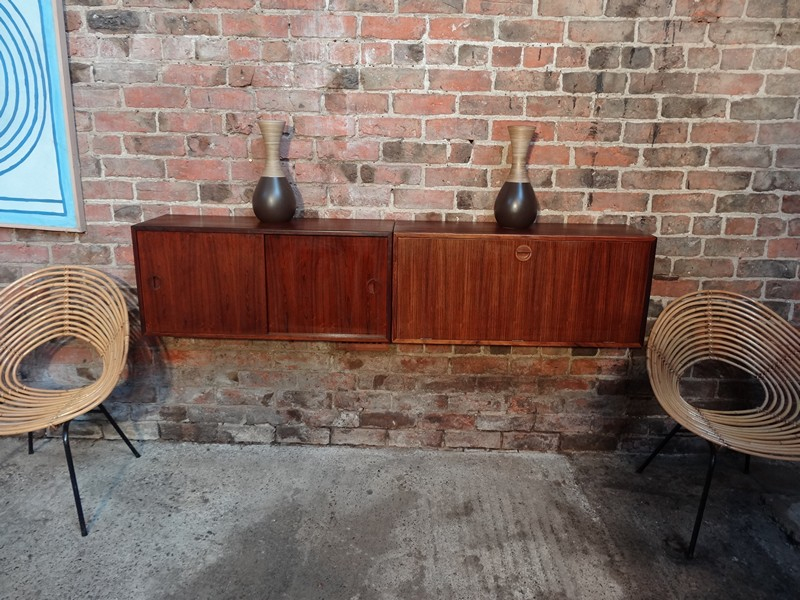 SOLD - Wall hanging rosewood Sideboard (114)