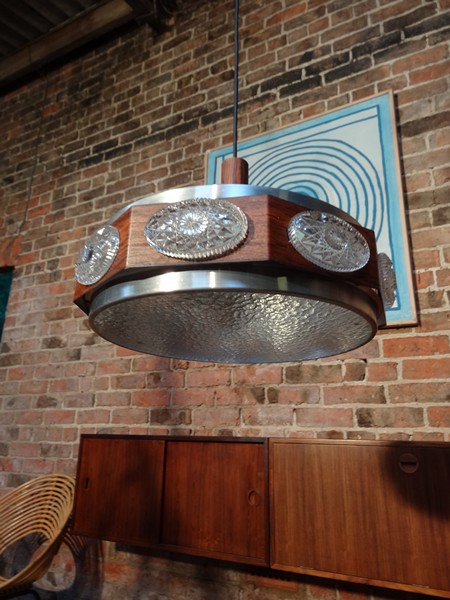 1960 metal / plastic hanging light (B)
