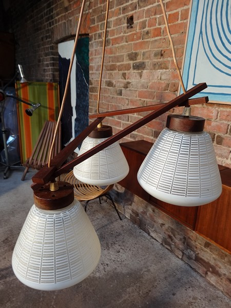 1960 teak  hanging light