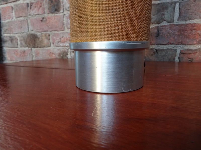 1960's retro aluminium / fabric lamp