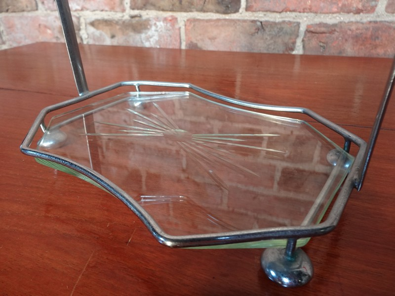 Art Deco two tie chocolade tray