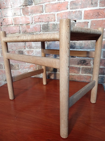 1950's oak framed Hans Wegner stool