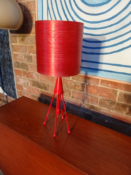 1960's rode 'rocket' tafel lamp