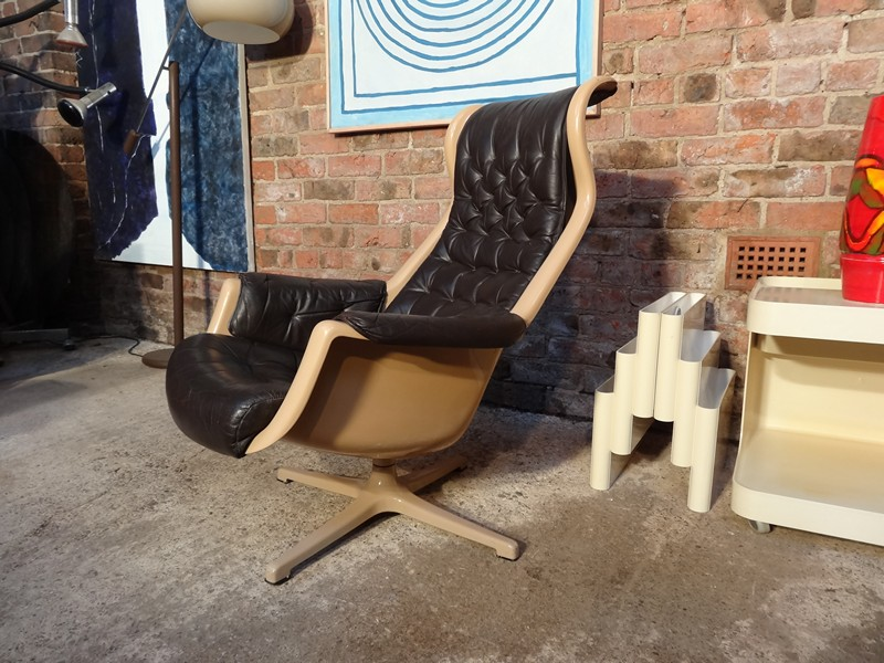 **SOLD**1960's space age Swedish Galaxy Lounge Chair Dux Designed by Alf Svensson & Yngvar Sandström