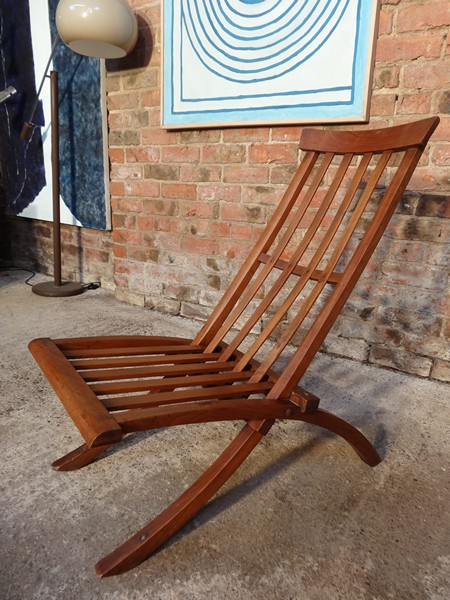 ca 1890 solid wooden folding chair