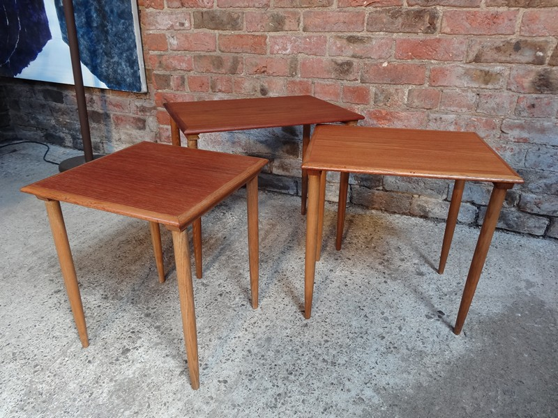 Large Danish 'Bramin' Teak nest of tables (3)