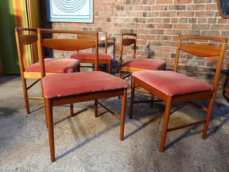 5 Mcintosh teak / fabric Chairs (Price on request, have 5 more chairs for sale)