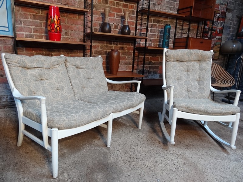 **sold**1950's Parker Noll designer 2 seater sofa and rocking chair