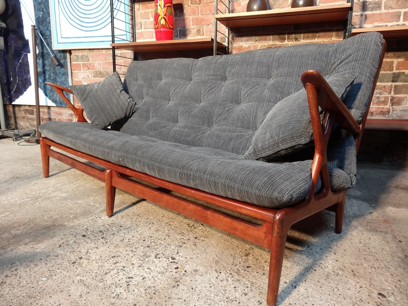 1950's Danish designer 3 seater sofa
