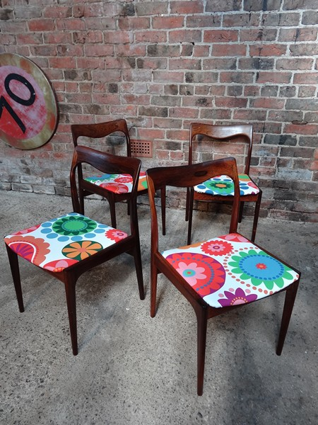 4 Danish Moller rosewood Chairs (price on request)