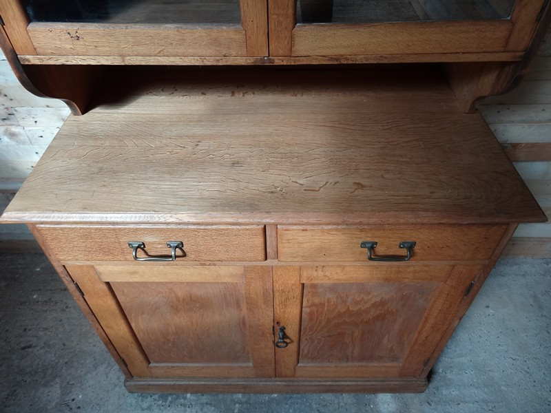 ca 1900 solid light oak kitchen cabinet