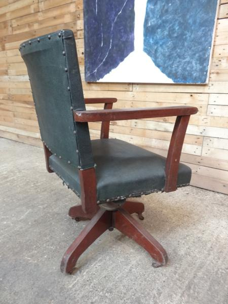 ca 1920 English swivel office chair