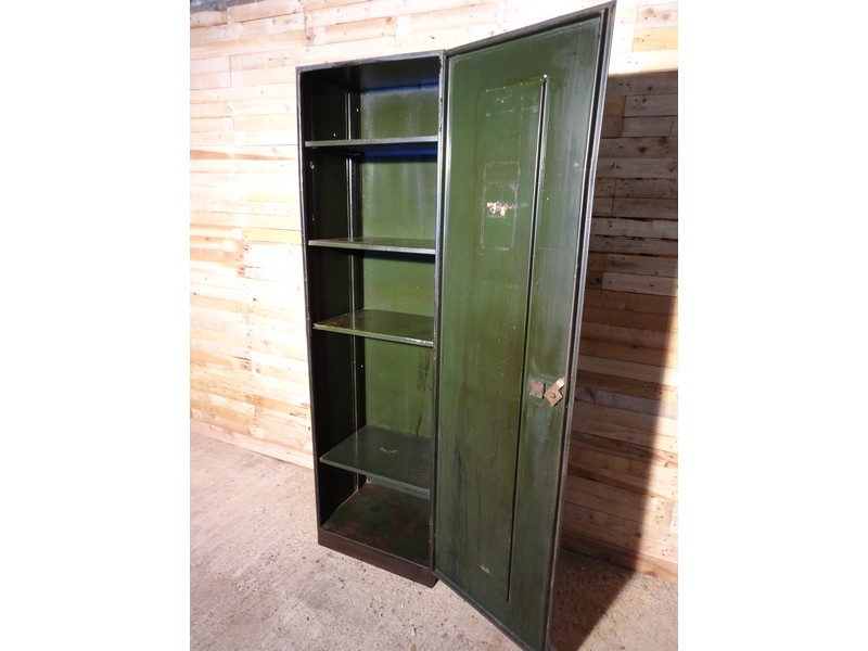 Very tall Industrial vintage full metal cupboard