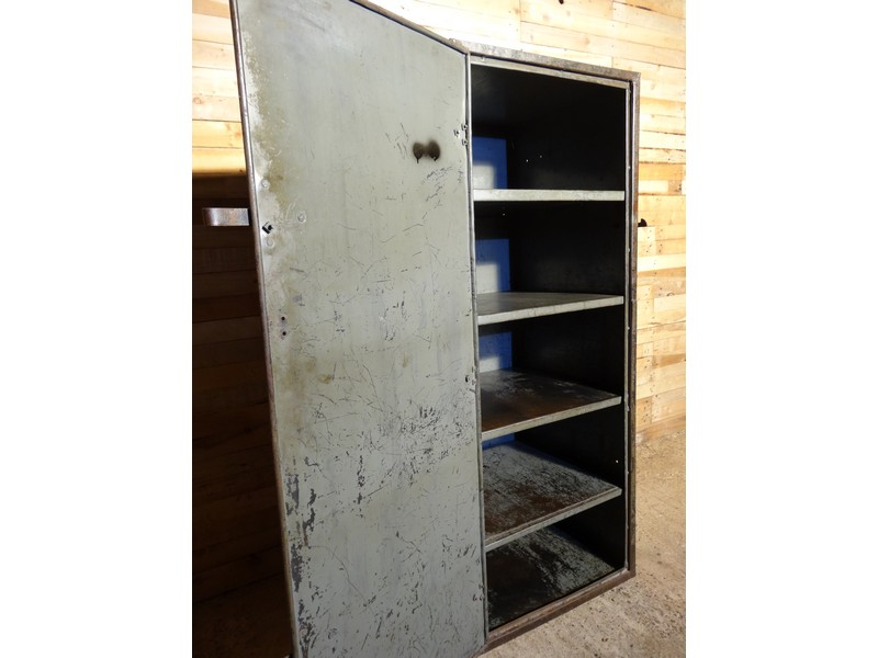 Industrial vintage full metal cupboard