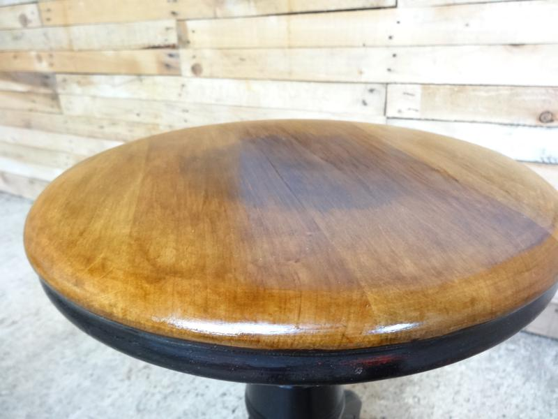 **sold**1930's French ebonized Industrial stool (price on request)
