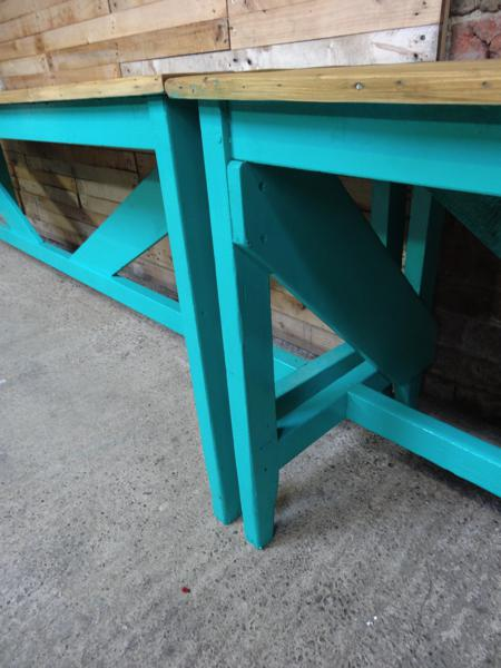 1910's XXL light retro green Industrial table /  kitchen table (price on request)