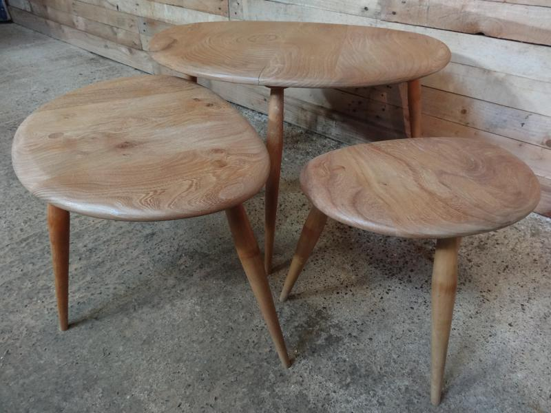 **SOLD**Organic Ercol nest of tables (3)