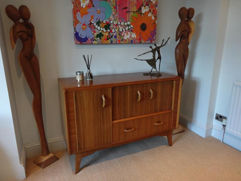 1960 sought after Zebrawood Sideboard / TV stand