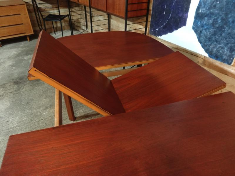 **SOLD**Large English extendable teak table