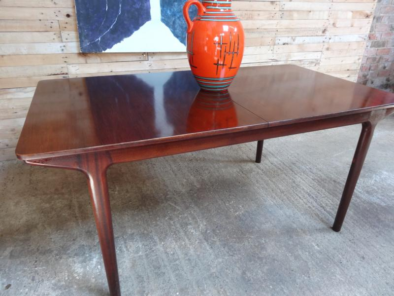SOLD - Stunning XXL rosewood retro 1960's dining table in very good vintage condition