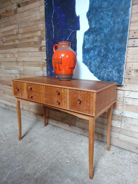 1950 High Zebra wood Sideboard / hall table / desk