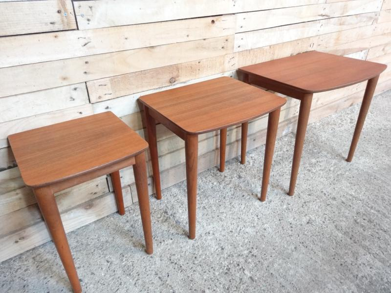 solid teak nest of tables (3) (price on request)