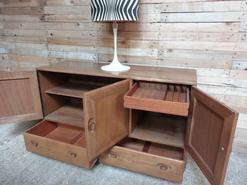 Large Ercol Windsor Elm Sideboard