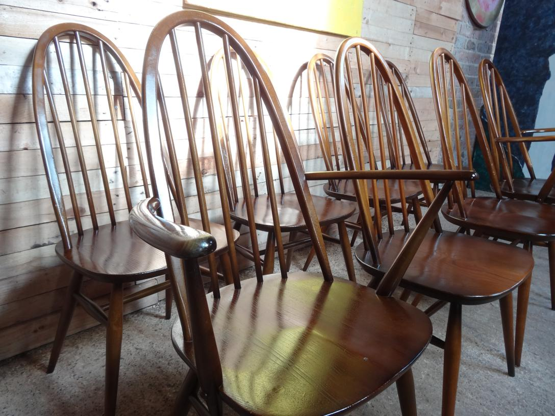 RESERVED - Set of 8 Ercol dining chairs