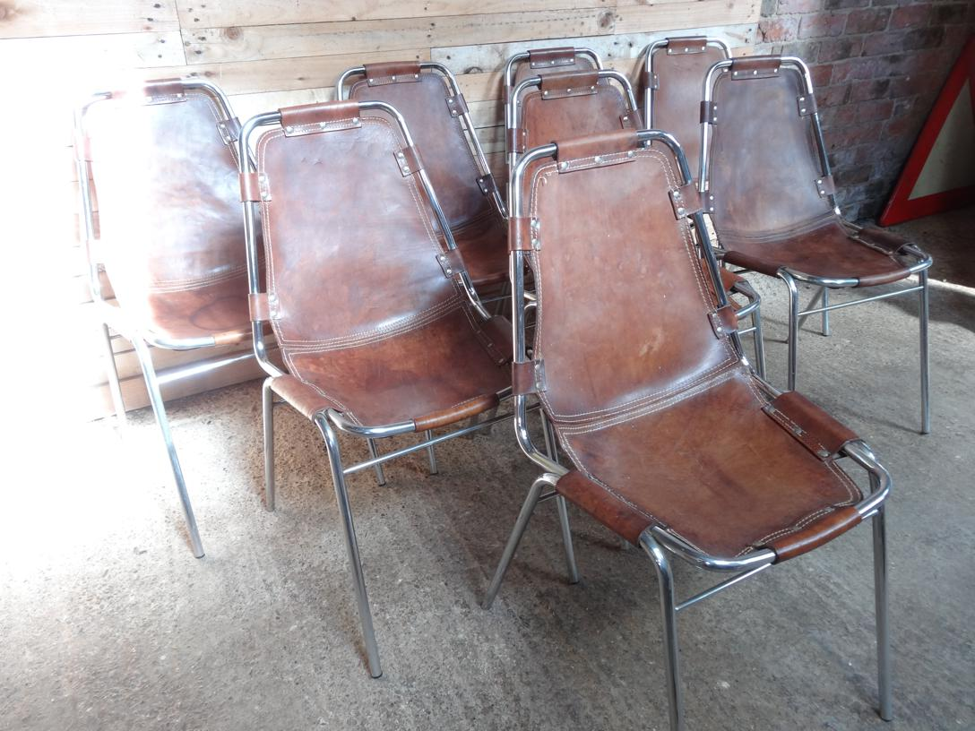 8  Charlotte Perriand Chairs For Les Arcs 1960