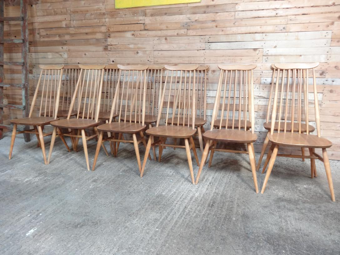 12 Ercol Windsor Goldsmith Chairs