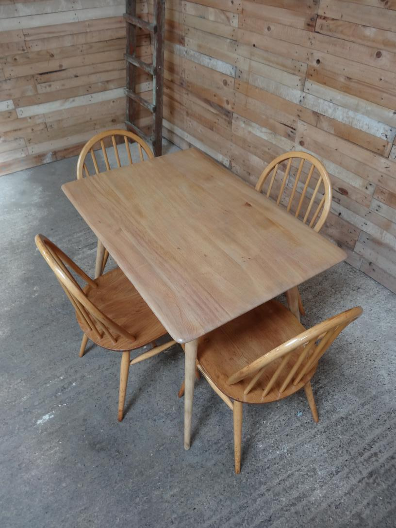 Ercol Quaker Hoop back Original Windsor Dining Chairs (6x)