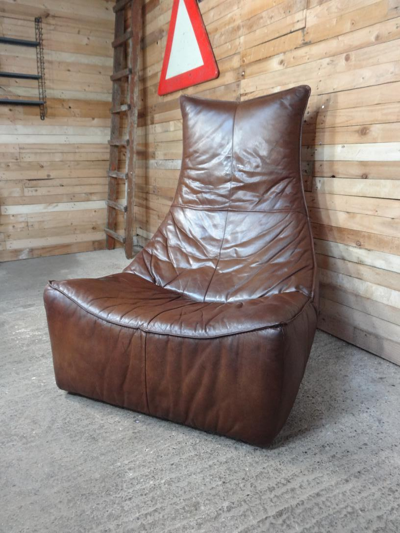 """ The Rock"" Gerard van de Berg cognac coloured leather chair (price on request)"