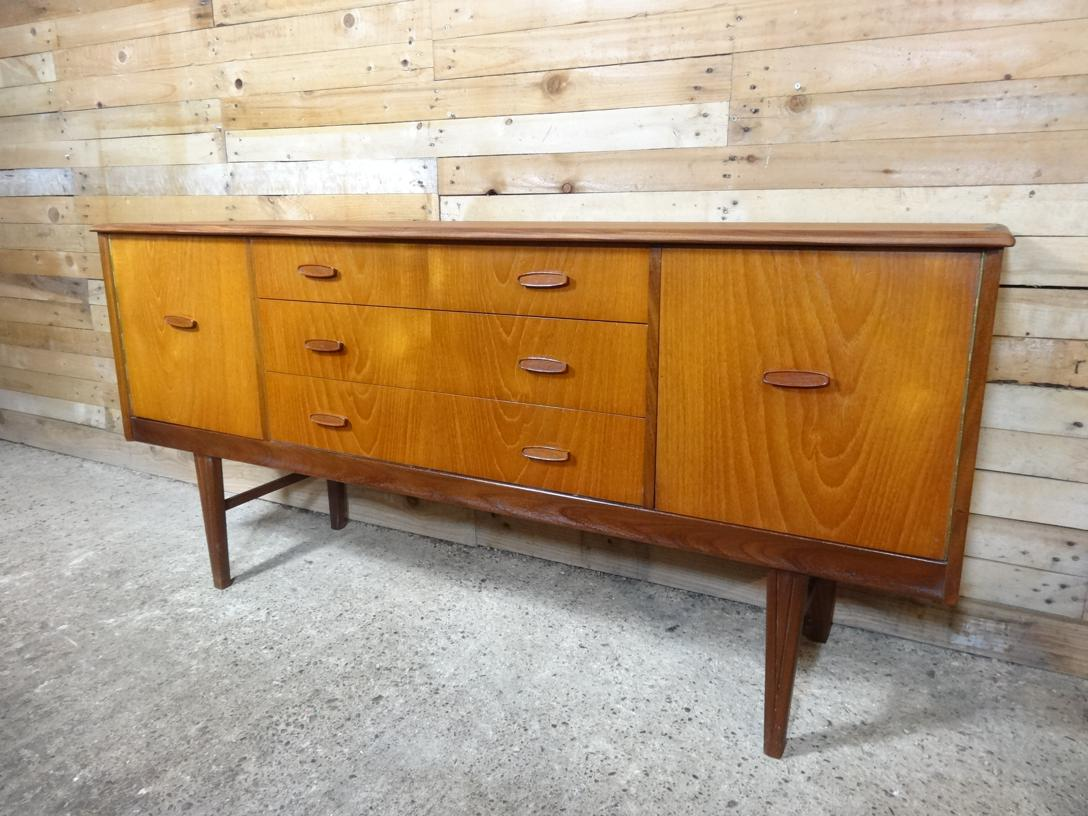 Teak sideboard with three drawers (110)