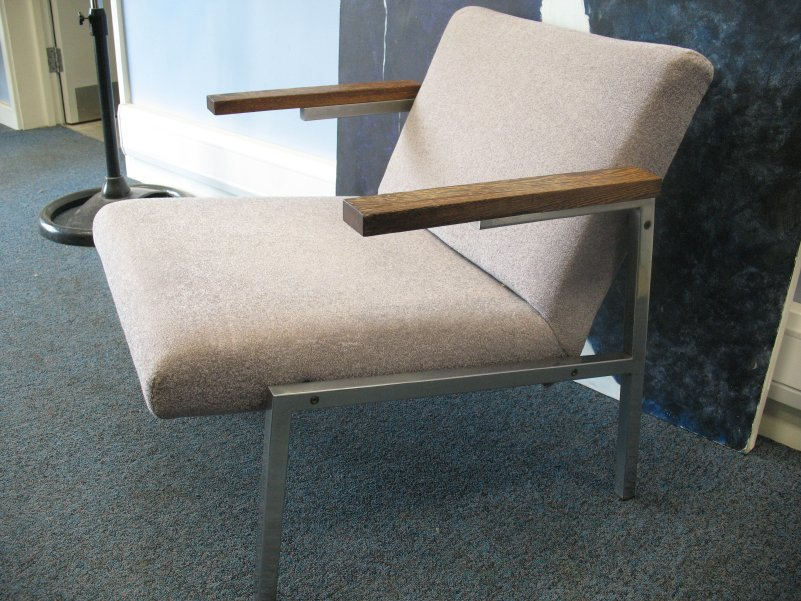 **SOLD**Martin Visser chrome Armchair