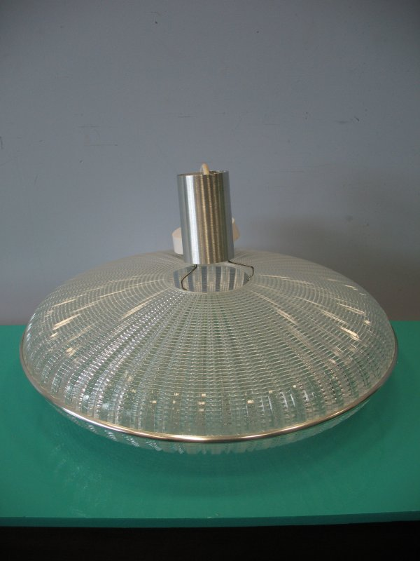 **SOLD**1960 clear plastic hanging lamp