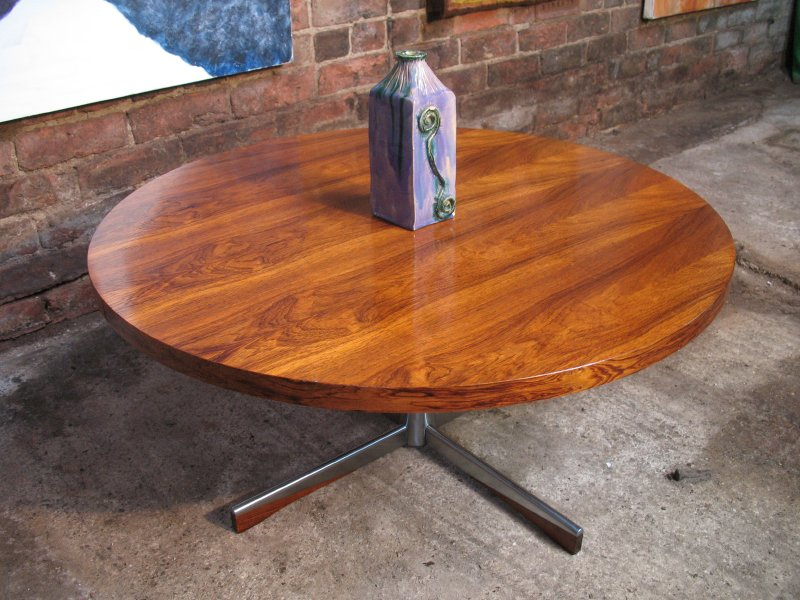 **SOLD**Danish chrome / rosewood  coffee table
