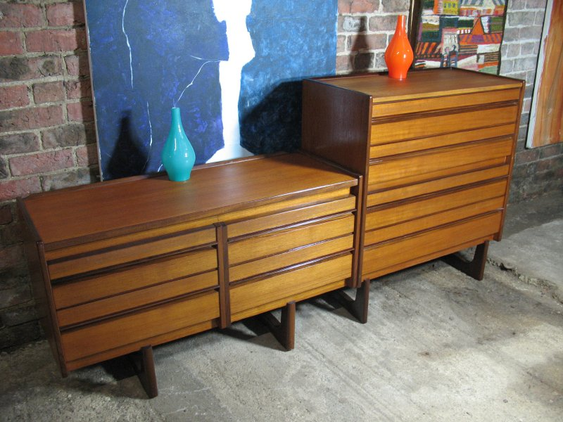 **sold** Teak Danish Double Sideboard on stunning U legs