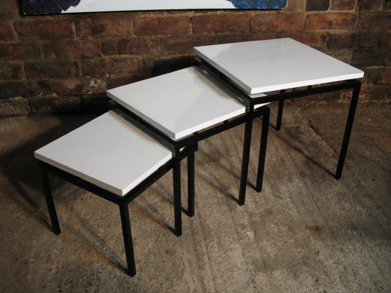 Black Stiemsma metal framed nest of tables (3)
