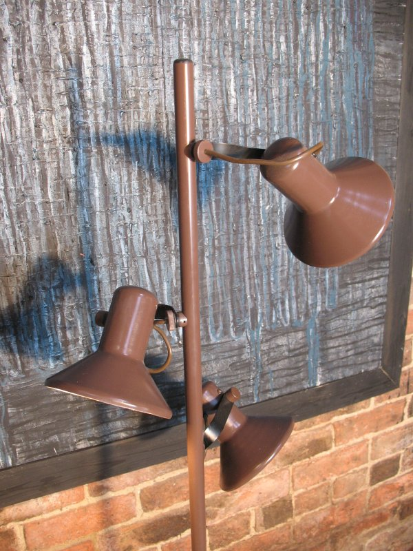 **SOLD**1960's floor standing brown metal lamp