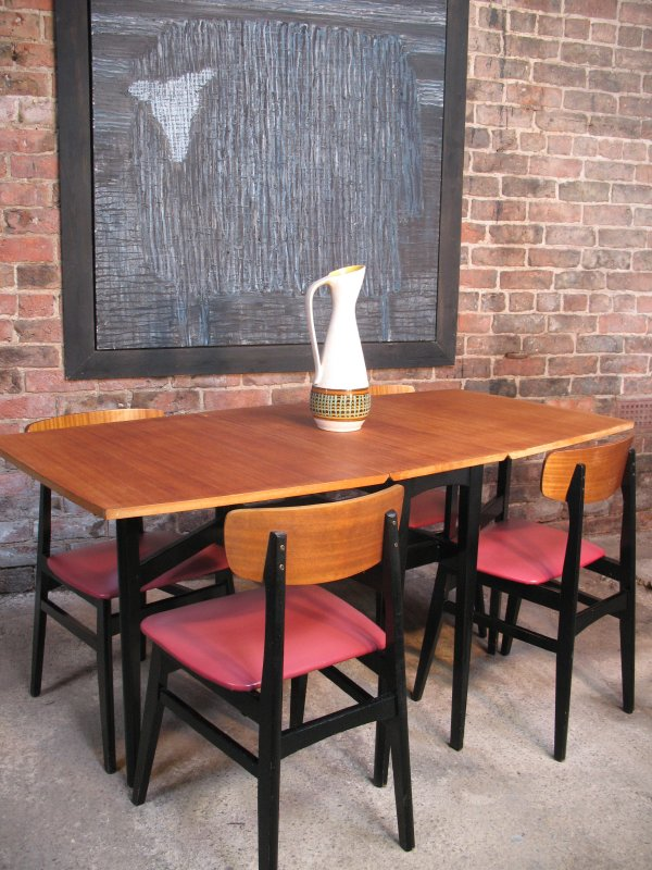 Danish 1950s Table and 4 Chairs (price on request)