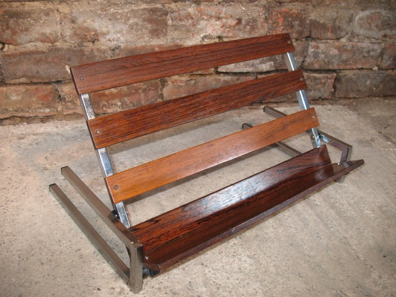 **SOLD**1960's Rosewood Chrome book stand
