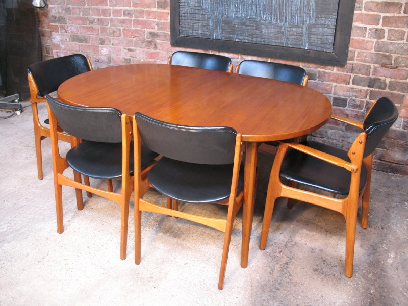 6 Danish Erik Buck for O.D Molber Chairs