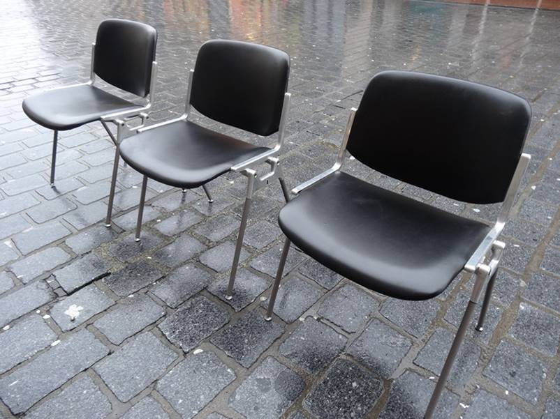 3x Italian 'Casatelli Giancarlo Piretti' Chairs (price on request)